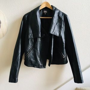 CUSP NEIMAN MARCUS vegan leather moto jacket L